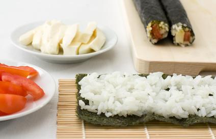Sushi-Rollen-vorbereitung